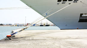 Detail of mooring a vessel in the port of La Goulette Stock Photography