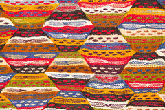 Detail of a Moroccan carpet, background Royalty Free Stock Photography