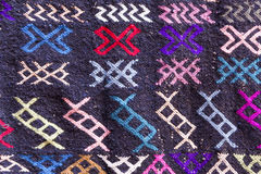 Detail of a Moroccan carpet, background Stock Image