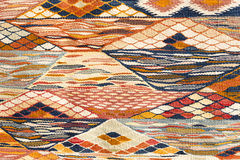 Detail of a Moroccan carpet, background Stock Photos
