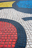 Detail of Mosaic in Barcelona Royalty Free Stock Images