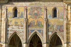 Detail of mosaic on the facade of the Cathedral of Saints Vitus Royalty Free Stock Images