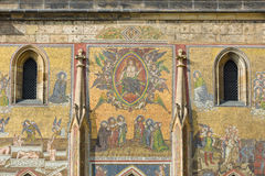 Detail of mosaic on the facade of the Cathedral of Saints Vitus Stock Photos
