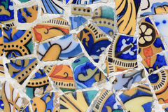 Detail of mosaic in Guell park in Barcelona Stock Photo