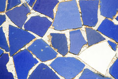Mosaic at Parc Guell. Detail of mosaic at Parc Guell. Modernism. Barcelona Royalty Free Stock Photo