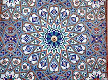 Detail of mosaic wall in Hassan II Mosque, Casablanca, Morocco. North Africa Royalty Free Stock Photo