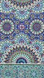 Detail of mosaic wall in Hassan II Mosque, Casablanca, Morocco royalty free stock images