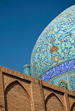 Detail of mosque isfahan iran. Detail of mosque in isfahan iran Royalty Free Stock Photography