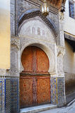 Detail of Mosque Sidi Ahmed Tijani in Fez, Morocco Stock Images