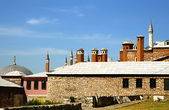 Detail of Mosque of the Valide Sultan in Turkey stock photo