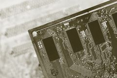 Detail motherboards Stock Photography