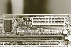 Detail motherboards Stock Image