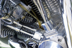 Detail of a motorbike engine Stock Image