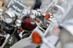 Detail of motorbike in a parking Stock Photos