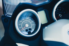 Detail of motorbike speedometer. Royalty Free Stock Photography