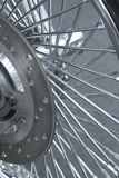 Detail of motorbike wheel Royalty Free Stock Image
