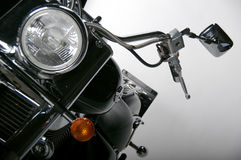 Detail of motorcycle. Front sight on chopper motorcycle royalty free stock photo