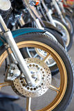 Detail of motorcycle Royalty Free Stock Photos