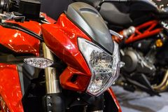 Close-up of motorcycle detail. royalty free stock photo