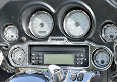 Detail of the motorcycle dashboard Royalty Free Stock Photography