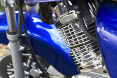 Detail of a motorcycle engine Royalty Free Stock Images