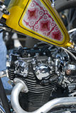 Detail of motorcycle engine Royalty Free Stock Image