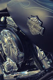 Detail of the motorcycle Harley-Davidson Royalty Free Stock Images