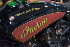 Detail of the motorcycle Indian Stock Images