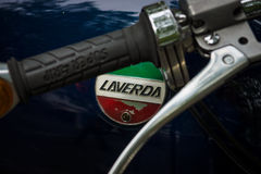 Detail of motorcycle Laverda 750 SF. Royalty Free Stock Photography