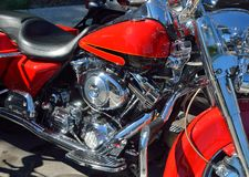 Detail of a motorcycle Royalty Free Stock Images