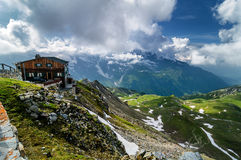 Detail of mountain landscape. Beautiful spring view at Grossglockner High Alpine. stock image