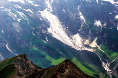 Detail of mountain landscape. Beautiful spring view at Grossglockner High Alpine Road. Stock Photo