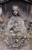 Detail of a mourning sculpture on a Ursberg, Germany Stock Photo