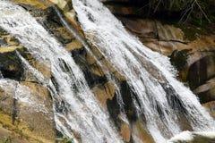 Mumlava Waterfall in Krkonoše mountains. Detail at Mumlava Waterfall in Krkonoše mountains in Czech republic Stock Image