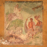 Detail of mural painting in Pompeii Royalty Free Stock Image