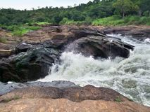 Detail of the Murchison Falls Royalty Free Stock Photos