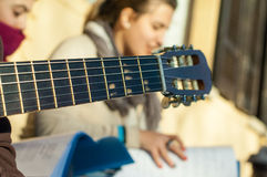 Detail of the musician Royalty Free Stock Photo