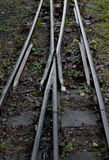 Detail of narrow gauge railway line royalty free stock images