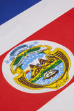 Detail on the national flag of Costa Rica Royalty Free Stock Photos