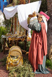 Detail of Nativity Scene in Tenerife Royalty Free Stock Photography