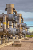 Detail of Natural gas plant Royalty Free Stock Images