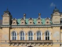 Detail of neo-Renaissance building, castle courtyard in Svetla nad Sazavou. Czech republic monument stock photos