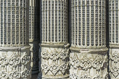 Detail of neoclassical columns Stock Photography