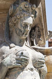 Detail of Neptune Fountain in Bologna. Italy stock image