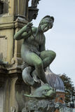 Detail of the Neptune Fountain in Frederiksborg Castle in Hiller Royalty Free Stock Photography