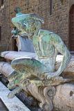Detail of the Neptune Fountain on the Piazza della Signoria in F Royalty Free Stock Photography