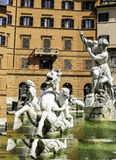Detail of the Neptune fountain in Piazza Navona in Rome, Italy Stock Image