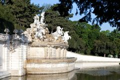Detail from Neptune Fountain in Schonbrunn Palace in Vienna Stock Image
