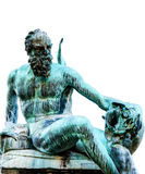 Detail of Neptune Fountain on white background, Florence Royalty Free Stock Photos