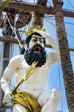 Detail of  Neptune Galleon pirate ship  in Genova , Italy Stock Photo